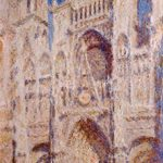 Claude-Monet-Rouen-Cathedral-The Portal-Sunlight-1894