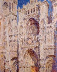 Claude-Monet-Rouen-Cathedral-The Portal-Sunlight-1894