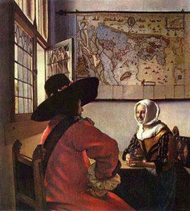 Johannes Vermeer-Officer-and-Laughing-Girl