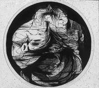 "Leonard Baskin, ""Death of the Laureate,"" wood engraving"