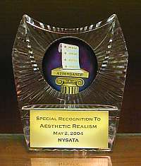 Award from New York State Attendance Teachers Association at education conference