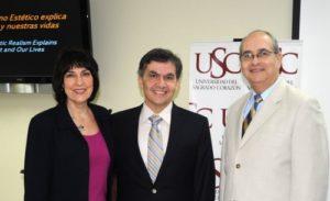 Donita Ellison, Dr. Jaime Torres y Dr. J. Rivera, Presidente de la Universidad del Sagrado Corazón en Puerto Rico