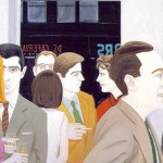 """""""Cocktail Party"""" by Alex Katz, a subject of talks on the Visual Arts"""