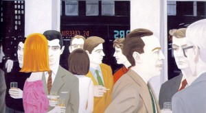 "Alex Katz, detail of ""Cocktail Party"""