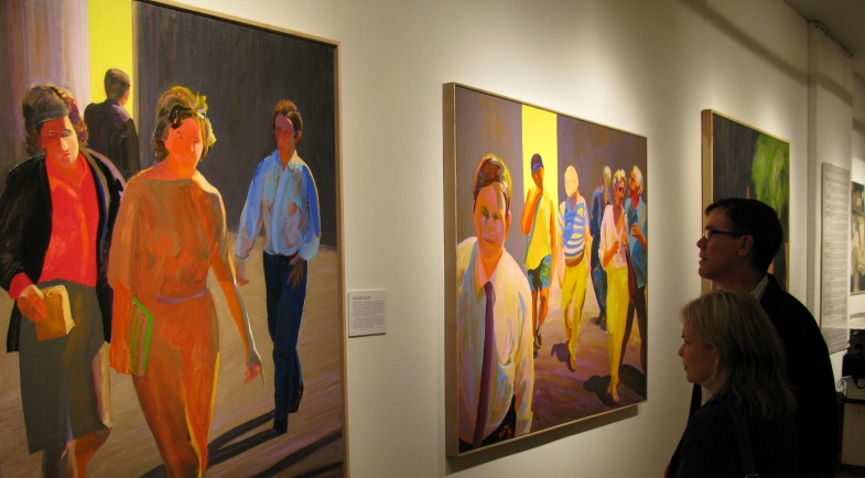 """Works by William Clutz in Terrain Gallery exhibition """"Painting Matters"""""""