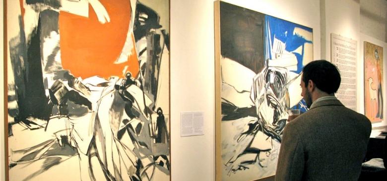 """""""Surface and Depth"""" show at the Terrain Gallery included work by Juan Bernal, James Juthstrom, Dorothy Koppelman, Ken Kraus, Antonio Masi, Derek Reist, Selina Trieff"""
