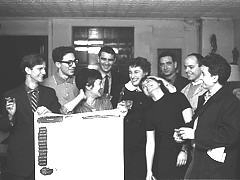"""Group photo of artists in """"The Real Show,"""" 1960, Terrain Gallery history"""