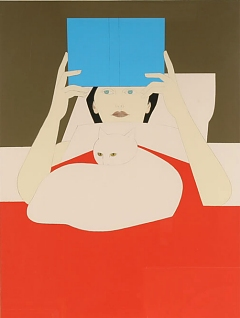 "Will Barnet, ""Woman Reading"""