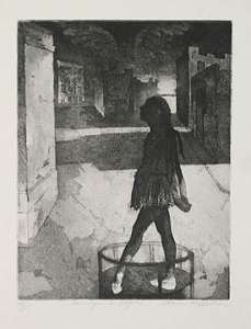 "Chaim Koppelman, ""Homage à Degas,"" aquatint"