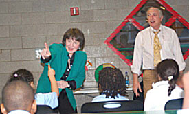 Barbara Allen & Robert Murphy teach after-school program