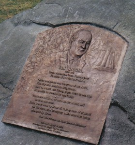 Eli Siegel memorial plaque in Druid Hill Park, Balt., MD by artist/consultant Chaim Koppelman