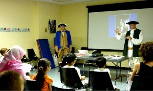 """""""George Washington, the American Revolution, & You!"""", an exciting interactive event given by Aesthetic Realism consultants Jeffrey Carduner and Robert Murphy"""
