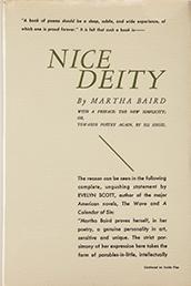 Nice Deity. Poems by Martha Baird