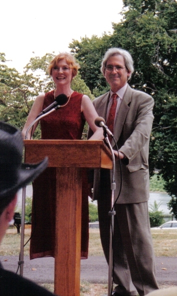 Carrie Wilson and Edward Green introduce speakers, and read Mayor O'Malley's proclamation of August 16, 2002 as Eli Siegel Day in Baltimore, MD