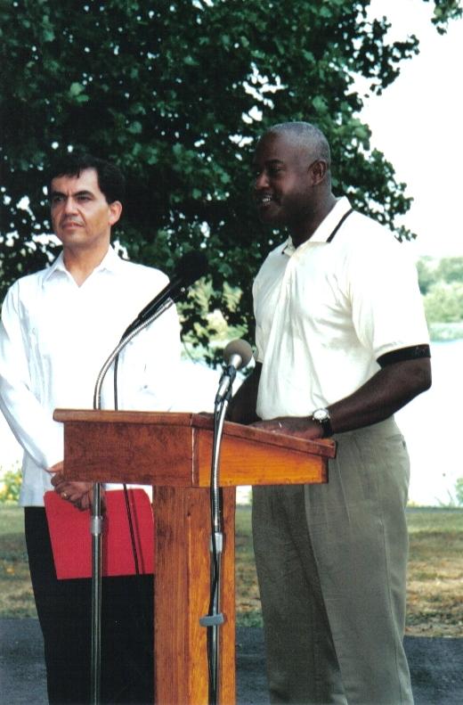 Eli Siegel Day, Balt. MD, Aug. 2002 - Speakers Allan Michael, maritime captain; and Dr. Jaime Torres