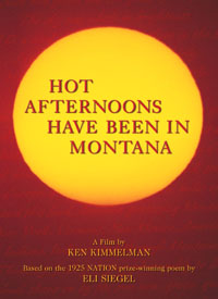 Hot Afternoons Have Been in Montana DVD