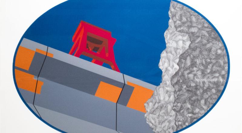 "Allan D'Arcangelo's painting, ""Curve"""