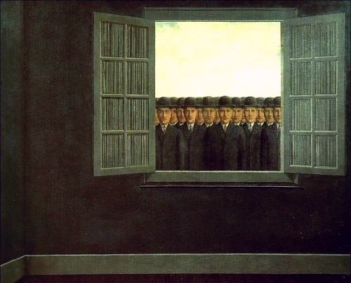 """""""Month of the Grape Harvest"""" by Magritte"""