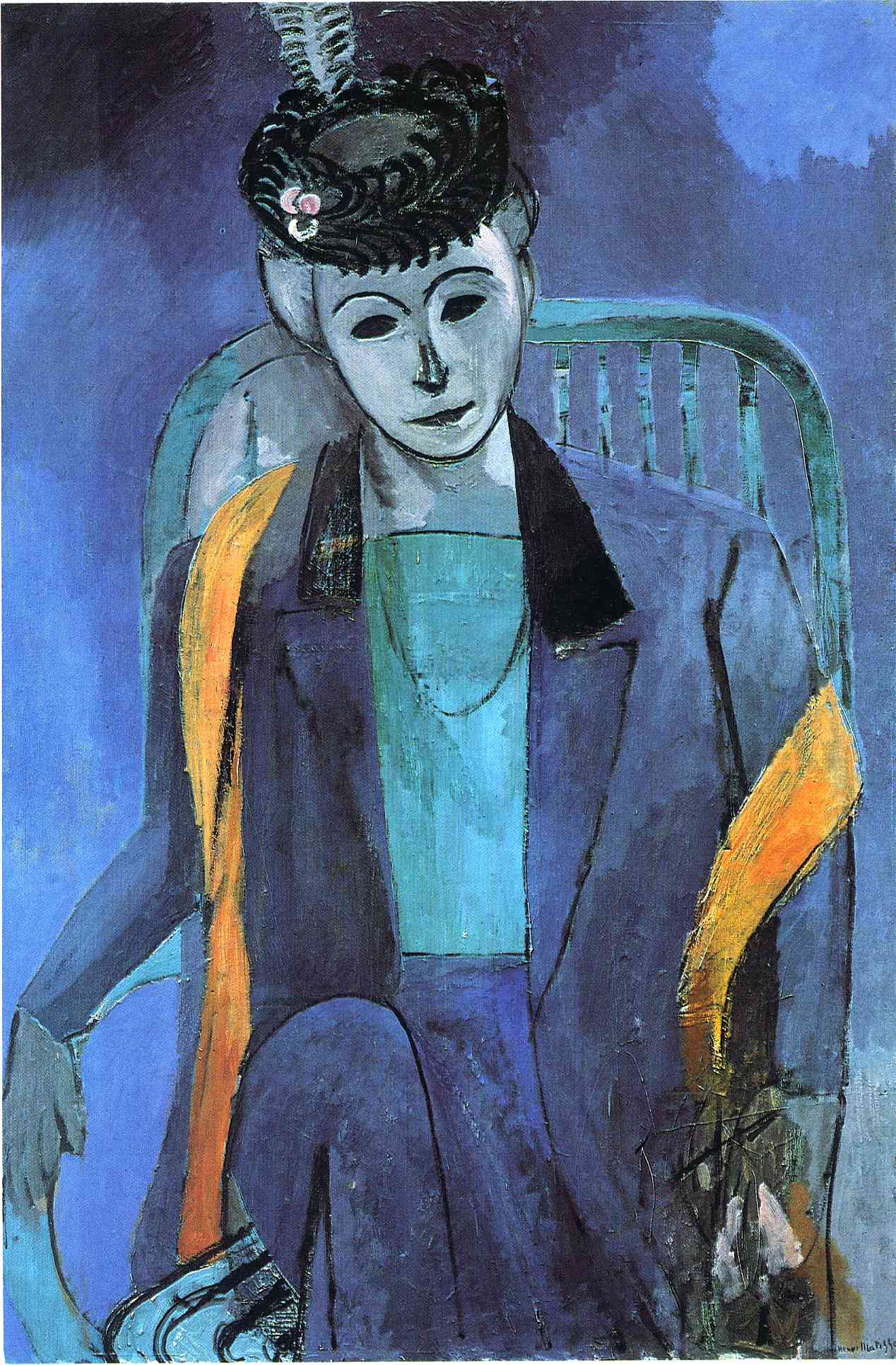 portrait-of-mme-matisse-1913