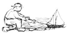 Drawing by Dorothy Koppelman, for Children's Guide by Eli Siegel