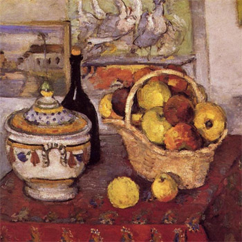 Cezanne still life with soup tureen