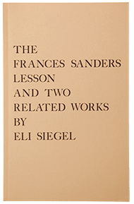 Book, Frances Sanders Lesson, cover image