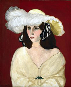 Henri-Matisse-White-Plumes-1917