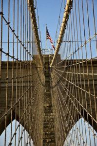 """Brooklyn Bridge and Flag"" by Dan McClung"