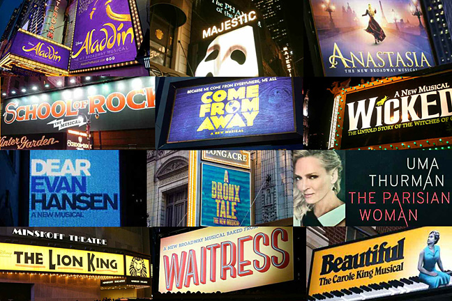 Broadway Shows montage